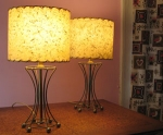A Pair of Quaint Vintage 50s Lamps w/Shades