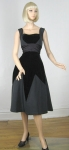 Dramatic Smart Miss Vintage 50s Velvet Diamond Party Dress 03.jpg