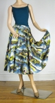 Amazing Vintage 50s Post Card Novelty Print Circle Skirt 03.jpg