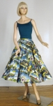 Amazing Vintage 50s Post Card Novelty Print Circle Skirt 09.jpg