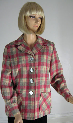 Cute Vintage 40s Pink & Gray 49er Jacket