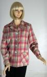 Cute Vintage 40s Pink & Gray 49er Jacket 04.jpg