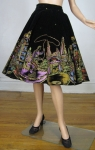 Mexican Hand Painted Vintage 50s Full Circle Skirt
