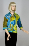 Uproariously Cute Vintage 60s Novelty Top Blouse