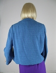 Chic Teal Tweed Vintage 60s Boxy Jacket 03.jpg
