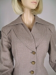 Tailored Taupe Vintage 40s Gorgeously Detailed Jacket