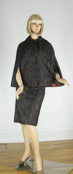 Rich Girl Vintage 60s Tweed Cape Suit