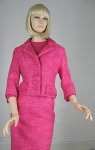 Hot Pink 60s Tweed Dress and Jacket