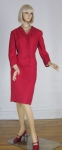 Chic Cherry Red Vintage 60s Davidow Suit