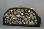 Opulent Vintage 60s Brocade & Bead Evening Bag