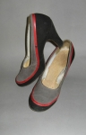 Tri-Color Vintage 40s Baby Doll Pumps