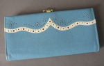 Baby Blue Vintage 60s Buxton Leather Wallet