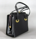 Cute Boxy Vintage 60s Black Handbag