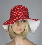 Red Vintage 70s Anchor Novelty Print Hat