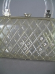 Clearly Cute Vintage 60s Lucite Convertible Clutch Purse
