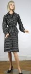 Cute Vintage 70s Abe Schrader Novelty Club Print Woven Coat 02.jpg