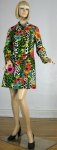 Awesome Vintage 60s Poppy Print Spring Jacket/Coat