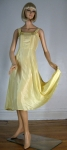 Lovely Pale Lemon Yellow Vintage 50s Rayon Full Skirt Slip