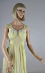 Light Lemon Vintage 50s Rogers Nightgown Negligee