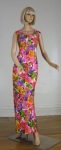 Vibrant Vintage 70s Lounge / Hostess Gown